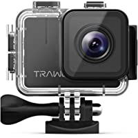 APEMAN Trawo Action Camera 4K WiFi Ultra HD 20MP Unterwater Waterproof 40M Camcorder with 170°Ultra-Wide Angle Sony Sensor EIS Stabilization Dual 1350mAh Batteries