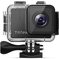 APEMAN TRAWO Caméra Sport 4k Ultra HD Wi-FI 20MP Appareil Photo Etanche 40M Action Cam EIS Stabilization 170° Grand-Angle avec 2 Batteries 1350mAh et Accessoires Multiples