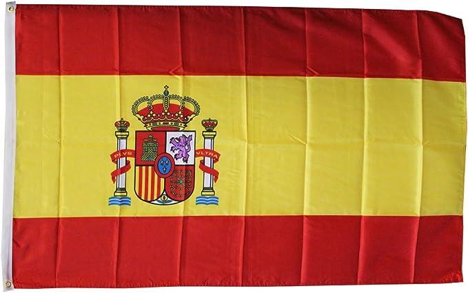 Bandera de España en Poliéster de 152.4 cm x 91.4 cm (5 x 3). Oferta Especial: Amazon.es: Jardín