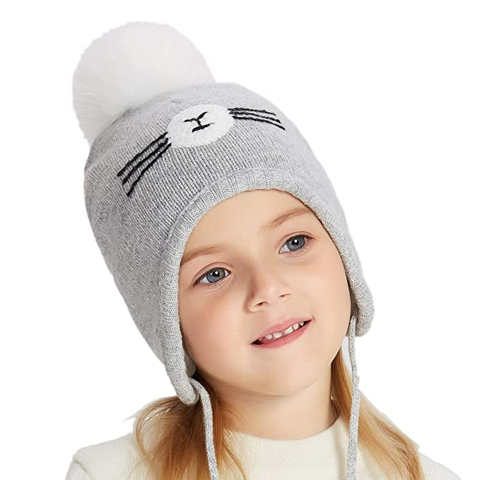 a3245b3f2a3 Image Unavailable. Image not available for. Color  ENJOYFUR Toddler Knit  Hats
