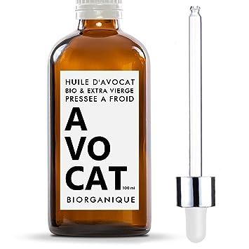 Aceite de aguacate, 100 % orgánico, puro, natural y prensado en frío – 100 ml – Para el cuidado del cabello, cuerpo, piel