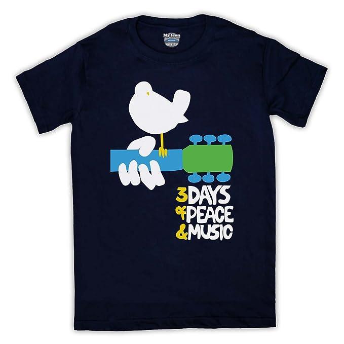 es T De Y Para Rock Amazon Accesorios Manga Festival Hombre Ropa Camiseta Corta Woodstock gIY4v