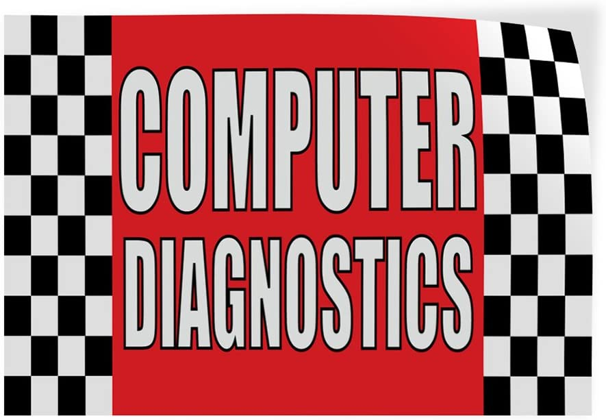 Decal Sticker Multiple Sizes Computer Diagnostics #1 Style A Business Computer Outdoor Store Sign Red Set of 5 27inx18in