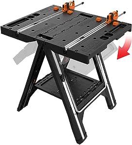 WORX Pegasus multifonction Table de travail et chevalet de sciage avec colliers de serrage rapide et Piquets de maintien/ /Wx051
