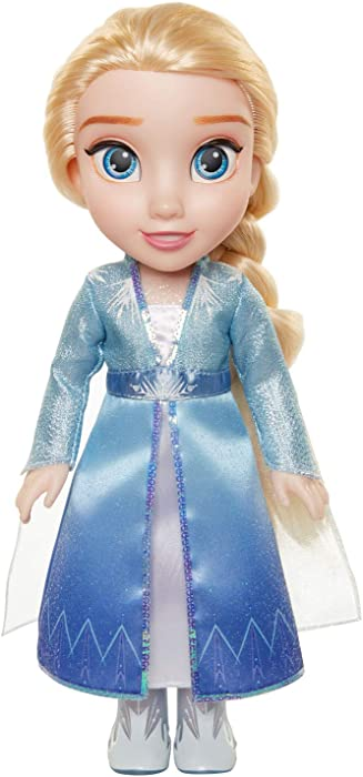 Disney Frozen 2 Elsa Travel Doll - Features Shimmery Ice Crystal Winged Cape Boots and Hairstyle - Ages 3+, 14 in