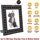 WiFi Spy Hidden Camera Wireless Photo Frame Camera with Night Vision,Motion Detection,365