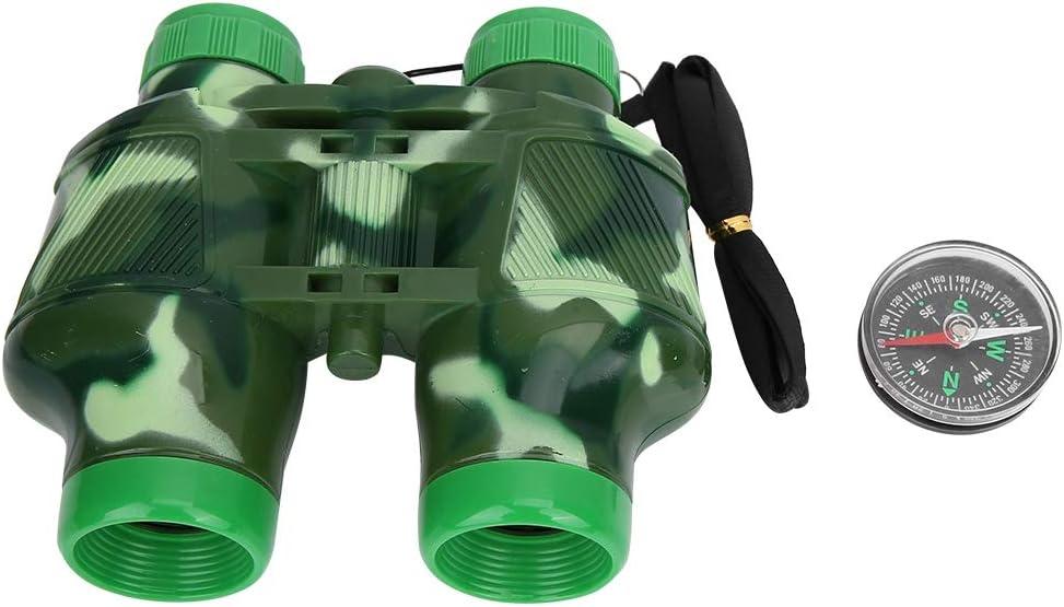 VGEBY1 Kids Binocular Toy Binocular Set with Lanyard Compass Children Telescope Toy Gift