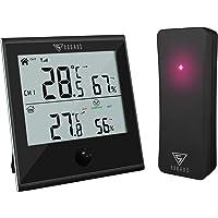 DOQAUS Termómetro Higrómetro Digital para Interior y Exterior, Medidor de Temperatura y Humedad con Sensor Inalámbrico…