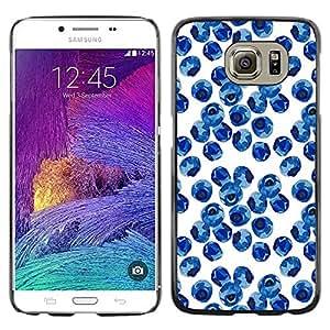 Paccase / SLIM PC / Aliminium Casa Carcasa Funda Case Cover para - Nature Porcelain White Blue - Samsung Galaxy S6 SM-G920