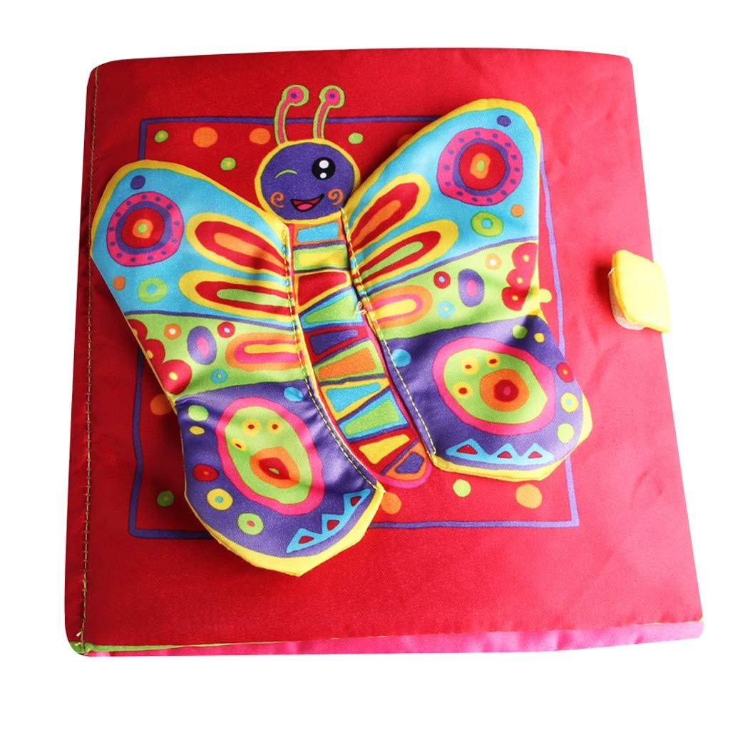 Homyl Livre en Tissu Enfants Doux Chiffon Livre Sonore Jouet Educatif Cadeau Enfants - Abeille