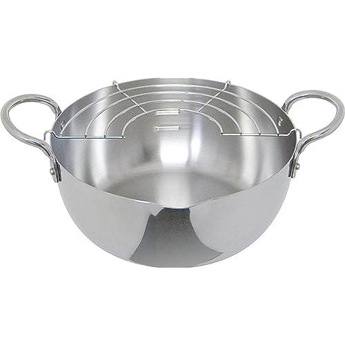 ウルシヤマ金属工業 ステンレス揚げ鍋 揚げアミ付 20cm