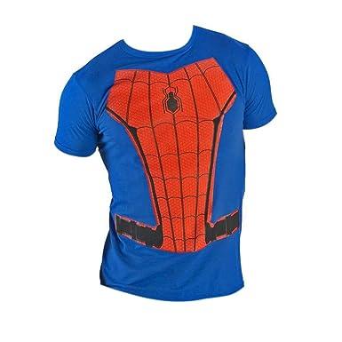 Spiderman Traje Traje de carbón Camiseta Pequeño: Amazon.es: Ropa ...