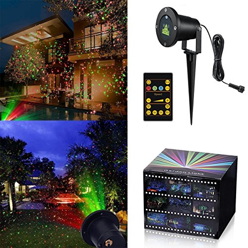Tepoinn Christmas Laser Lights Waterproof Outdoor IP65 Star Projector with Wireless Remote Control for Seasonal Decoration,Wedding,Home Party,Garden,DJ Disco by tepoinn