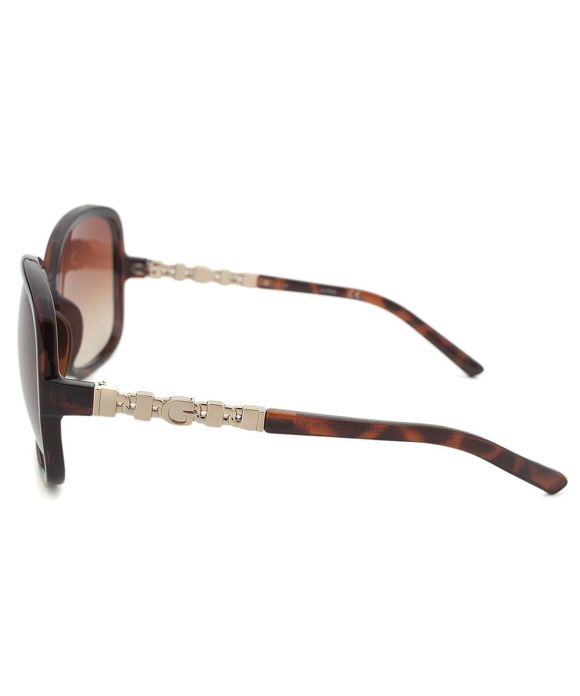 6770b2c0f5 Guess Gf0264-52F-62 Women s Oversized Tortoise Sunglasses  Amazon.ca   Clothing   Accessories