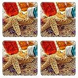 MSD Square Coasters Non-Slip Natural Rubber Desk Coasters design 20906704 spa elements