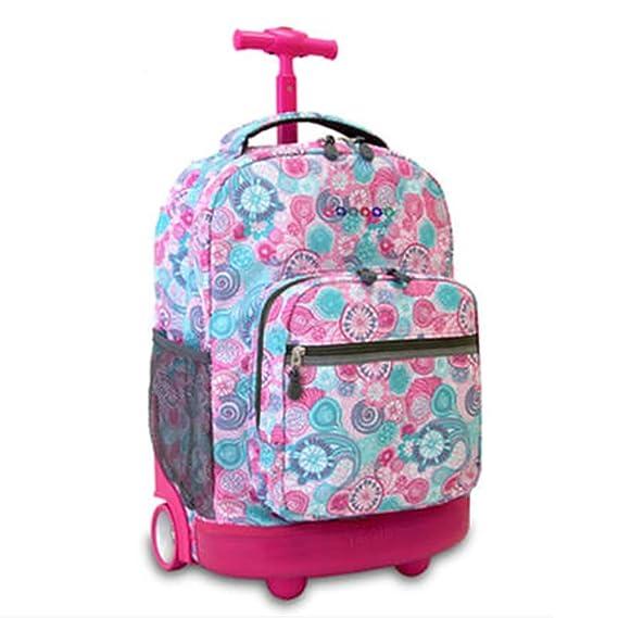 Amazon.com: HCC& Multifunction Waterproof Wheeled Rolling Luggage Backpack for Boys Girls Teenagers Schooling Travel Trolley School Bags 18.1118.6613.38 in ...