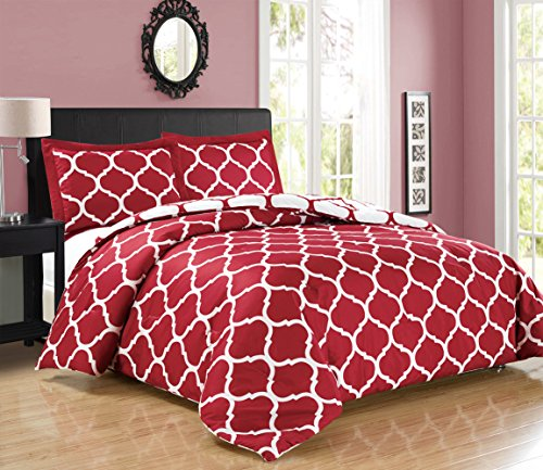 red and white comforter - 2