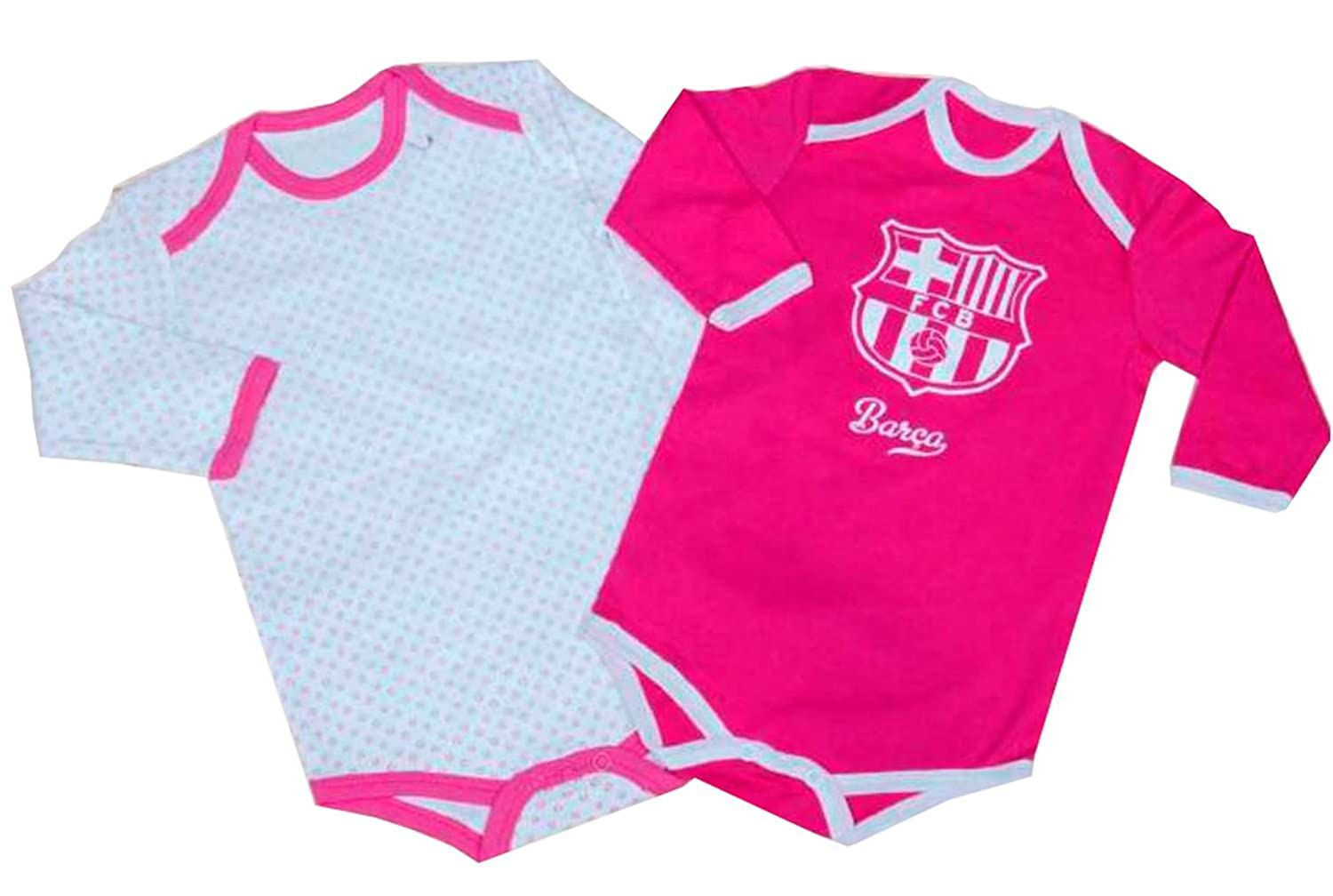 Pack 2 Body manga Larga F.C.Barcelona Rosa 6M: Amazon.es: Ropa y accesorios