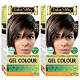 Indus Valley Permanent Herbal Hair Color Medium Brown 4.0- Twin Pack