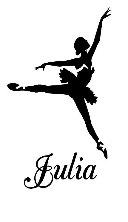 Ballet bailarinas Julia nombre letras para niños habitación adhesivo decorativo para pared vinilo adhesivo