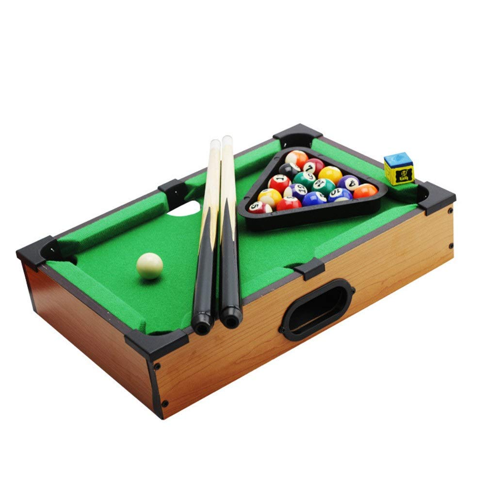 Ybriefbag-Sports Tabletop Billiards Desktop Pool Table Set Tabletop Toy Gaming Mini Pool-Billiard Table for Adults Kids (Color, Size : 25x35x7cm) by Ybriefbag-Sports