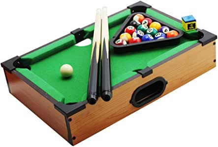 YuYzHanG Mini Mesa De Billar Escritorio Escritorio Juguetes Miniatura Mesa De Billar Juego De Mesa De Billar Mini Piscina Adulto del Niño Table Top Pool Game (Color, Size : 25x35x7cm): Amazon.es: Hogar