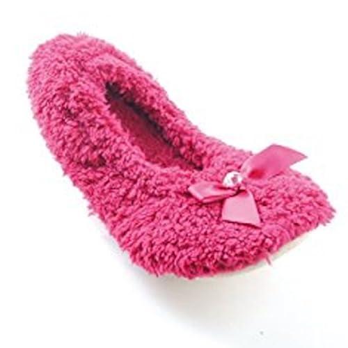 RJM Damen Hausschuhe, Pink - Rose - Größe: S