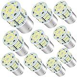 10 X 1156 Led Bulb White Super Bright 1003 BA15S 1141 Led Bulb RV Indoor Light 12V 6000K Xenon White