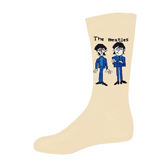 The Beatles Cartoon Group Standing Oficial De las mujeres nuevo Beige Calcetines