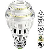 17W (150 Watt Equivalent) A19 Dimmable LED Light Bulb, 2450 Lumens, 6500K Cool White, 270° Omni-directional, CRI 80+, E26 Medium Base, UL Listed, 5-year Warranty, SANSI