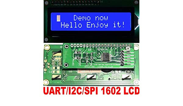 Serial:UART//I2C//SPI Adapter+1602 Yellow//Green LCD for Arduino//AVR//PIC
