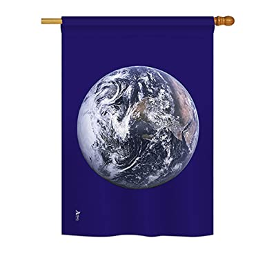 "Americana H140071 Earth Flags the World Nationality Impressions Decorative Vertical House Flag 28"" x 40"" Printed In USA Multi-Color : Garden & Outdoor"