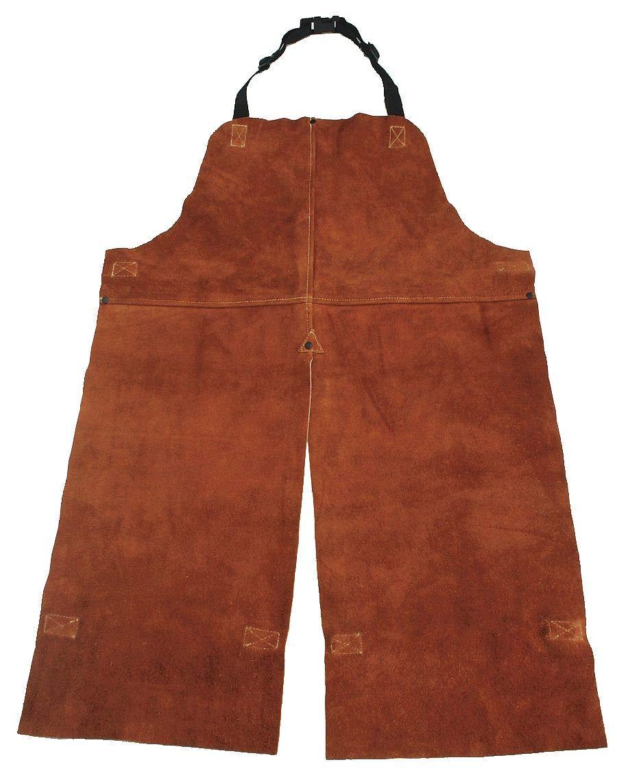 Split Leg Welding Bib Apron Leather