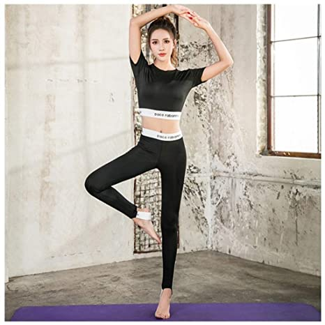 LGIZW Mujeres Ropa De Yoga Conjunto Ropa De Moda De Yoga ...