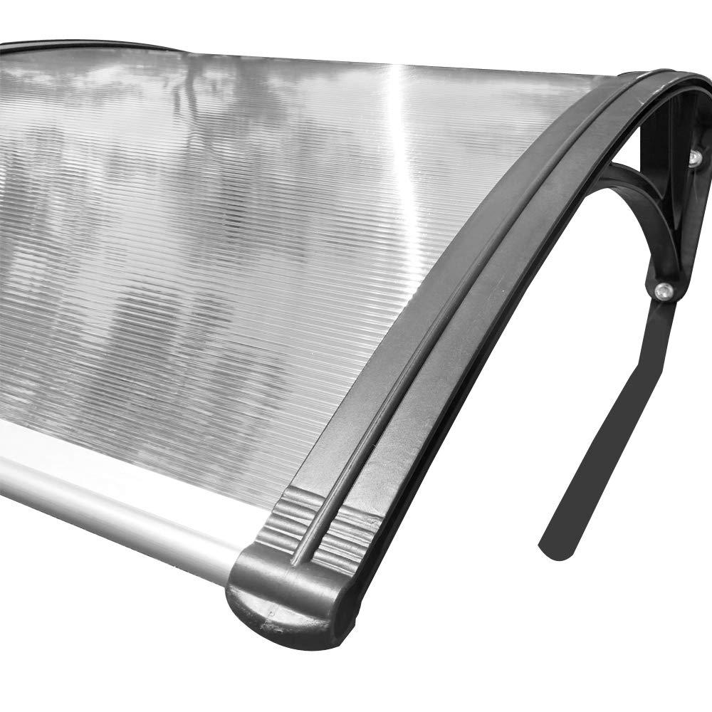 LARS360 Carport pour les tondeuses /à gazon robotis/ées Garage pour tondeuse /à gazon Robot polycarbonate Protection Pluie Auvent 103 x 77 x 45,5 cm