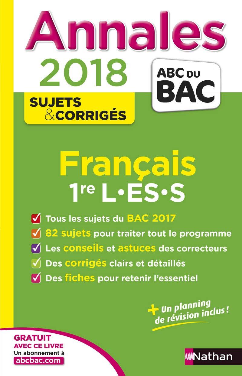 Français 1re L-ES-S : Sujets & corrigés (French) Paperback – August 31, 2017