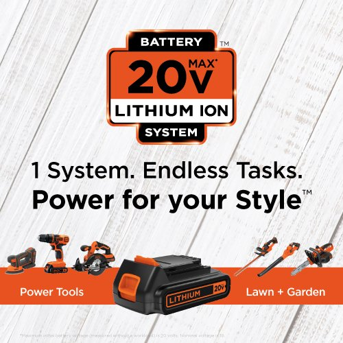 Black-Decker-LDX120PK-20-Volt-MAX-Lithium-Ion-Drill-and-Project-Kit