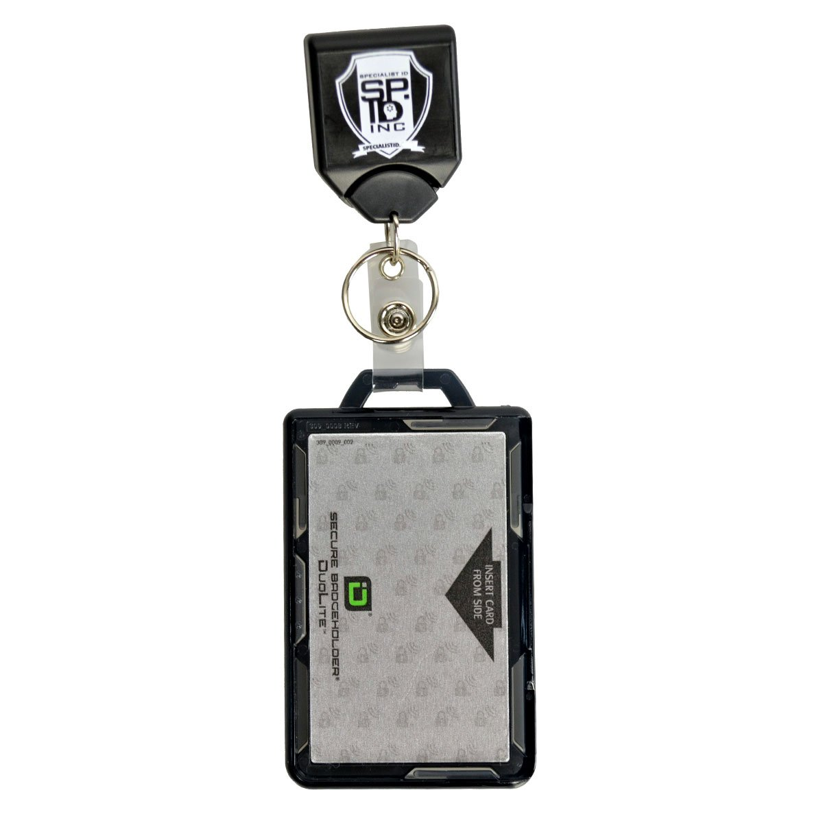 Specialist ID Heavy Duty Badge and Key Reel with Identity Stronghold RFID Blocking Multi Card Holder