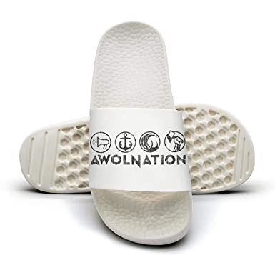 c616802abc8 Amazon.com  Woman Slide Sandal Flip Flops Shower Slippers Rock Music ...