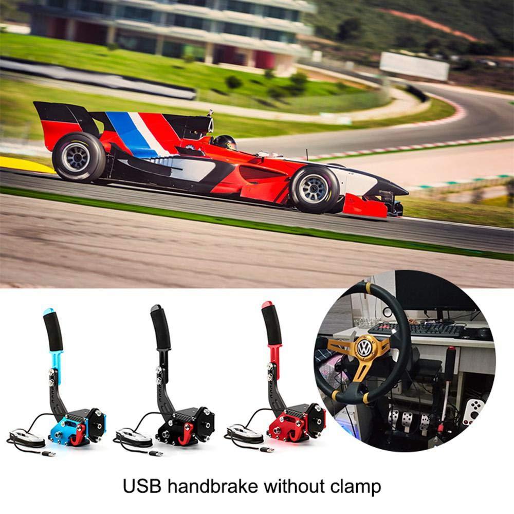 14Bits universal SIM USB freno de mano trabajar con el sistema de Windows altura ajustable Drift f/ácil instalaci/ón de abrazadera para G27 G25 G29 T500 T300 Fanatecosw LFS Freno de mano para PC