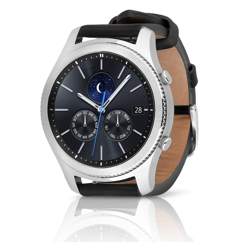 Amazon.com: Samsung Gear S3 Classic SM-R770 Smartwatch - Black Leather w/ Large Band (Certified Refurbished): Cell Phones & Accessories