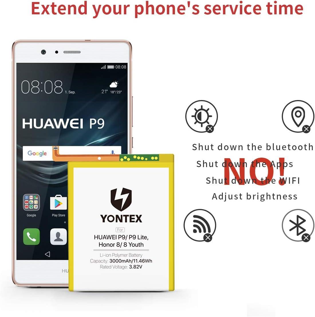 Yontex - Batería de repuesto para Huawei P20 Lite P9 Lite ...