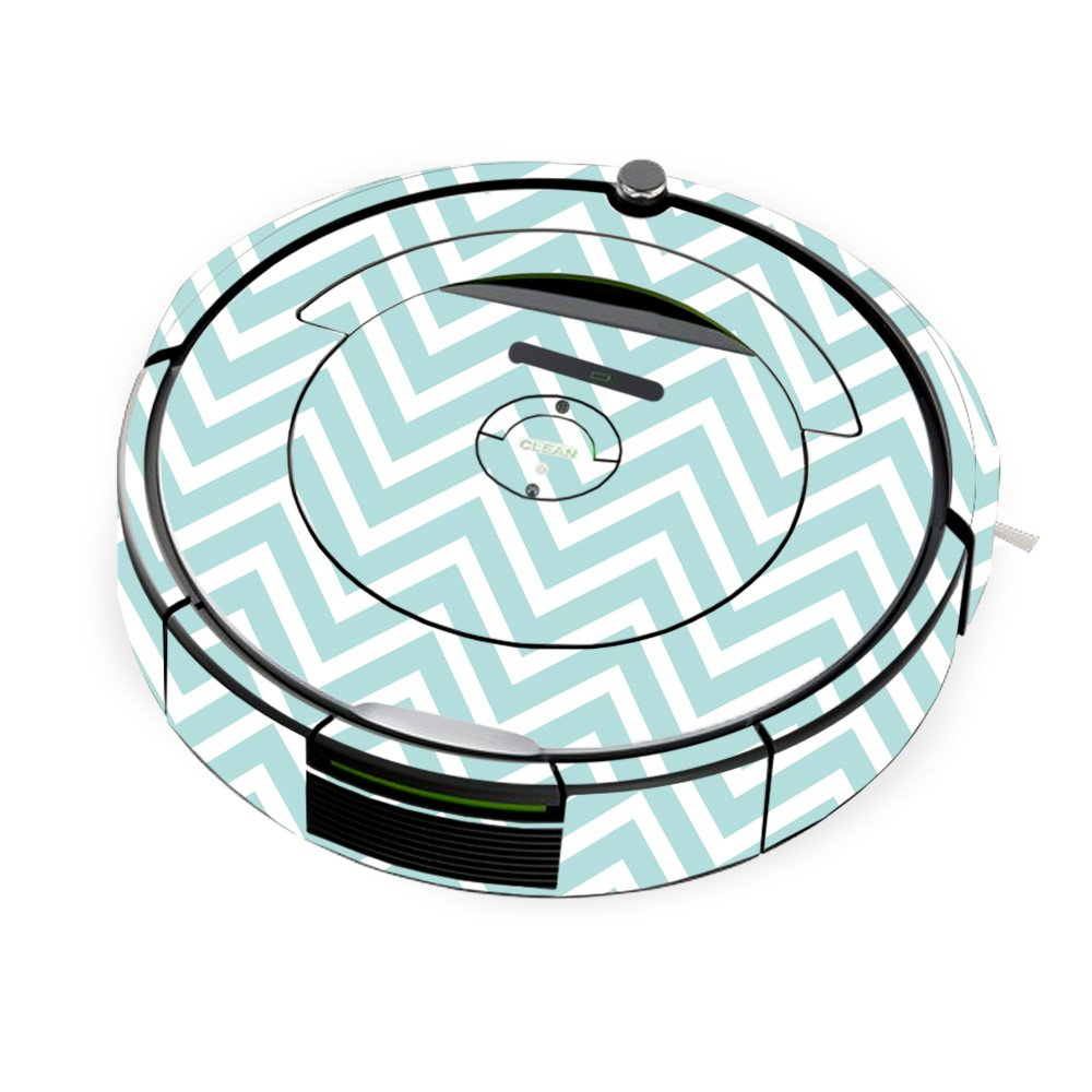 MightySkins Skin for iRobot Roomba 690 Robot Vacuum - Aqua Chevron | Protective, Durable, and Unique Vinyl Decal wrap Cover | Easy to Apply, Remove, and Change Styles | Made in The USA