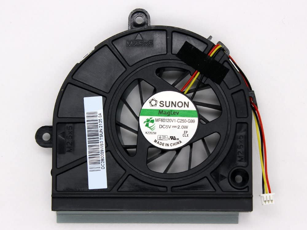 iiFix New Replacement CPU Cooling Fan For Asus K53 K53B K53BY K53E K53E-BBR1 K53T K53TK K53U K53U-RBR6 K53Z Inside Assembly