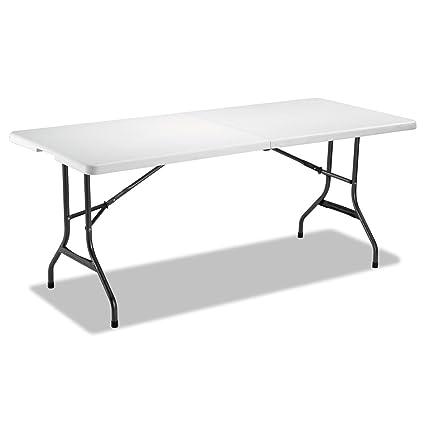 Alera ALEFR72H Fold In Half Resin Folding Table, 71w X 30d X 29h