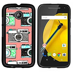 TECHCASE---Cubierta de la caja de protección para la piel dura ** Motorola Moto E ( 2nd Generation ) ** --cámara de la vendimia foto fotografía