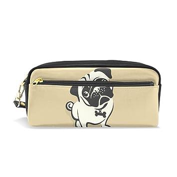 coosun Pug perro portátil piel sintética estuche escolar ...