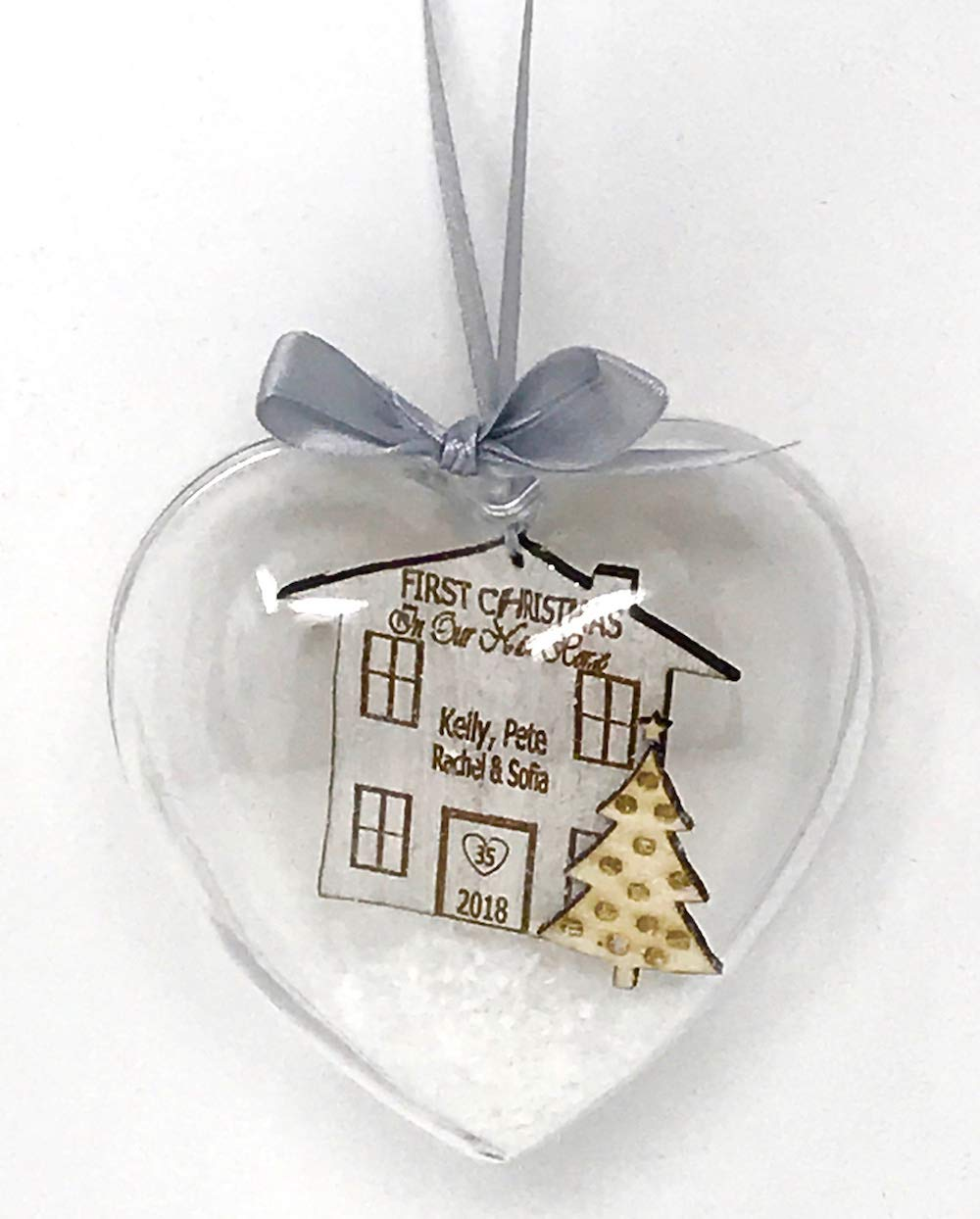 Una Casa Our First Christmas In Our New Home Personalised Bauble Tree Decoration