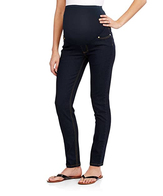 406f7b5bca450 RUMOR HAS IT Maternity Over The Belly Super Soft Stretch Skinny Jeans (Small,  Rinse