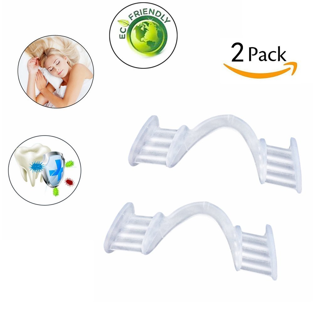 Anti Grinding Teeth Mouth Guard Eliminates Teeth Clenching Tooth Grinding Bruxism Prevents Grinding of Teeth With Protective Travel Case (2Pcs) Yakuro